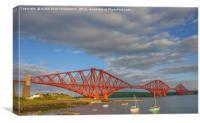 Forth Bridge, South Queensferry, Scotland, Canvas Print