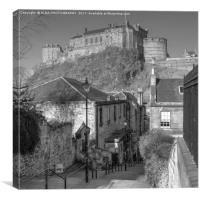 The Vennel, Brown's Place, Edinburgh, Scotland, Canvas Print