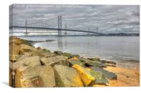 The Forth Road Bridge, South Queensferry, Scotland, Canvas Print