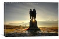 The Commando Memorial, Spean Bridge, Scotland, Canvas Print