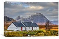 Blackrock Cottage, Glencoe, Scotland., Canvas Print