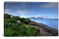 Isle of Rum, Small Isles, Scotland, Canvas Print