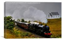 The Jacobite Steam Train., Canvas Print
