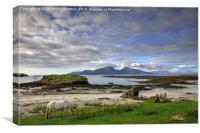 Isle of Rum, Small Isles, Scotland, Canvas Print