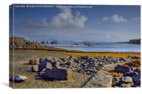 Isle of Muck Harbour, Small Isles, Scotland, Canvas Print