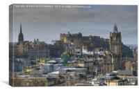 Edinburgh Castle & City Centre, Scotland, Canvas Print