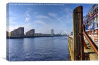 The River Clyde, Glasgow, Scotland., Canvas Print