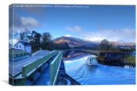 The Caledonian Canal, Corpach, Scotland., Canvas Print