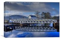 Caledonian Canal, Corpach, Scotland, Canvas Print