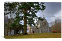 Catholic Church of St Mary & St Finnan, Glenfinnan, Canvas Print