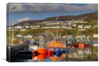 Mallaig Harbour, North West Scotland., Canvas Print