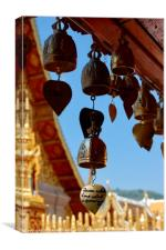 Golden Prayer Bell, Canvas Print