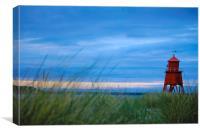 Sun Set at the Groyne, Canvas Print