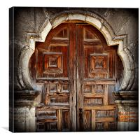 Mission Espada Doors, Canvas Print