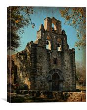 Mission Espada--San Antonio, Texas, Canvas Print