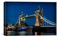 Tower Bridge Evening, Canvas Print