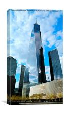 One World Center - Freedom Tower, Canvas Print
