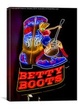 Betty Boots, Canvas Print