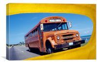 Vintage Cuban Bus, Canvas Print