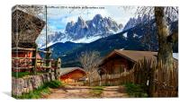 St. Jacob in the Villnoess Valley in South Tyrol w, Canvas Print