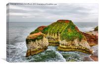 Green Stacks Pinnacle at Flamborough Head, Canvas Print