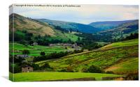 Evening Atmosphere in Swaledale, Canvas Print
