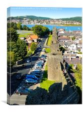 Town Walls in Conwy, Canvas Print
