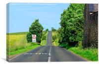 Northumberland Roads, Canvas Print