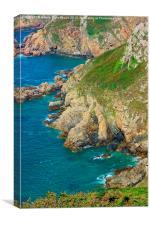 Guernsey Cliffs, Canvas Print