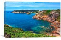 Portelet Bay, Canvas Print