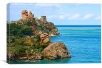 Caldura Bay on Sicily, Canvas Print