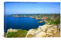 Guernsey's south coast cliffs near Icart Point, Canvas Print
