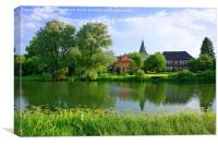 Idyllic Countryside in Northern Germany, Canvas Print