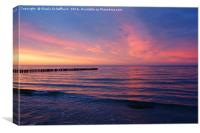 Sunset at the Baltic Sea, Canvas Print