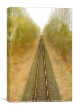Single-Track, Canvas Print