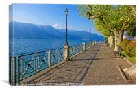 Walk on the Shores of Lago Maggiore, Canvas Print