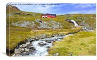 Norwegian Scenery on Porsangerfjord, Canvas Print
