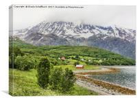Summer on Lyngenfjord, Canvas Print