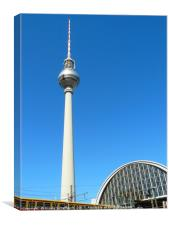 TV Tower in Berlin, Canvas Print