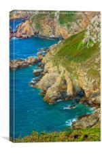 Guernsey Cliffs - Second Version, Canvas Print