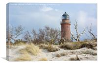 Lighthouse Darsser Ort, Canvas Print