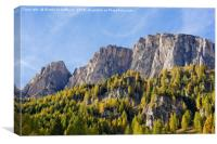 Dolomites Rocks in the Evening Sun, Canvas Print