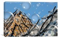 Birmingham Library with Bubbles , Canvas Print