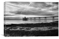 Clevedon Lightning, Canvas Print