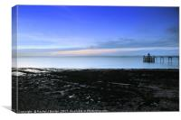 The Beach at Clevedon, Canvas Print