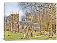St Andrews Church, Holcombe, Canvas Print
