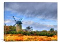 Bidston Windmill, Canvas Print