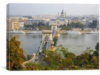 Chain Bridge Budapest, Canvas Print
