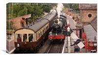 Arley Station, Canvas Print