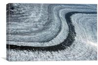 Aletsch Glacier Moraine Switzerland, Canvas Print